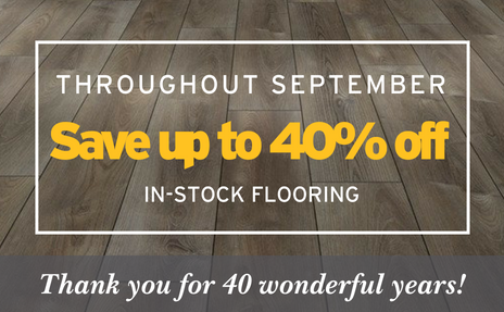 Wall to wall flooring sale